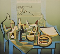 The feast II. Drypoint and relief print