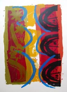 Blackberries-screenprint-60cmx70cm-2013-L.Tomkinson