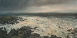 120x60cm Mixed Media on Canvas Westerly Gale Clodgy Point £1550m
