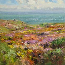 O149A Summer Moorland, Porthgwarra, Cornwall16x16