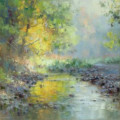 P118A Autumn Morning, Tideswell Dale 20x20