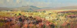 P399A Hot September Day, Totley Moss 12x32