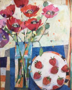 Strawberries and Poppies